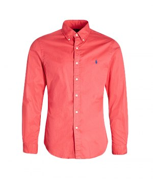 710741788008-SPOLO RALPH LAUREN Slim Fit Twill Shirt - Red 072dc29fcd3